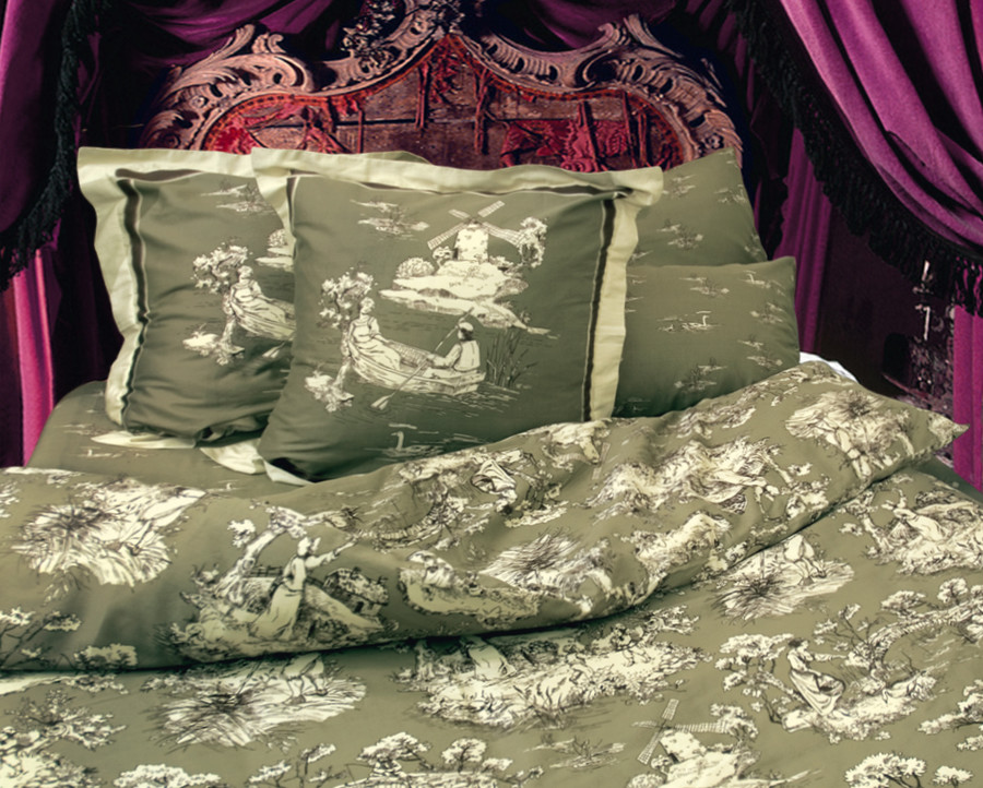 "Комплект 1,5-спальный, сатин, ""Тет-а-тет"", Т-0751-01 Романтик, Tete-a-Tete"