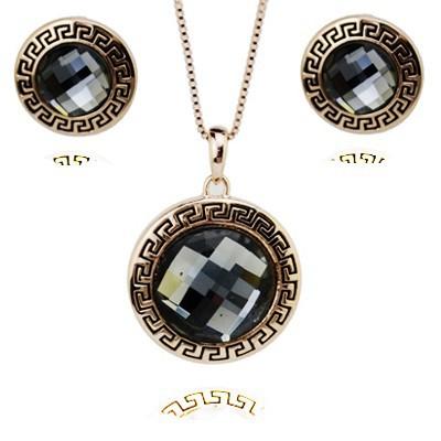 Комплект с кристаллами Сваровски, модная бижутерия
