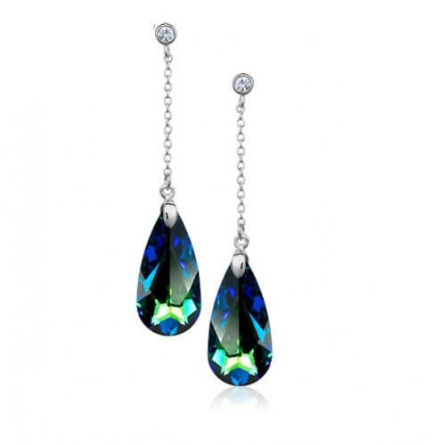 Серьги с кристаллами Сваровски, модная бижутерия