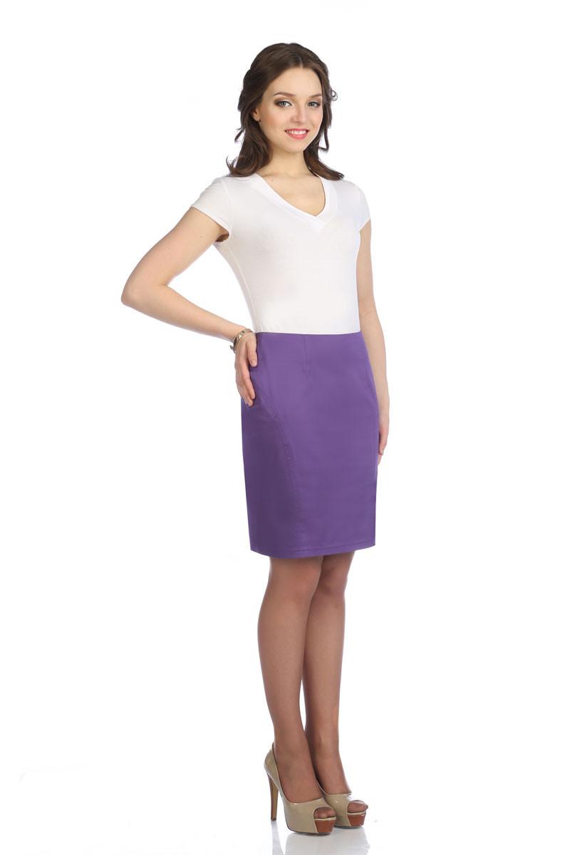 Юбка «Карандаш 0,5 фиолетовый», Venusita