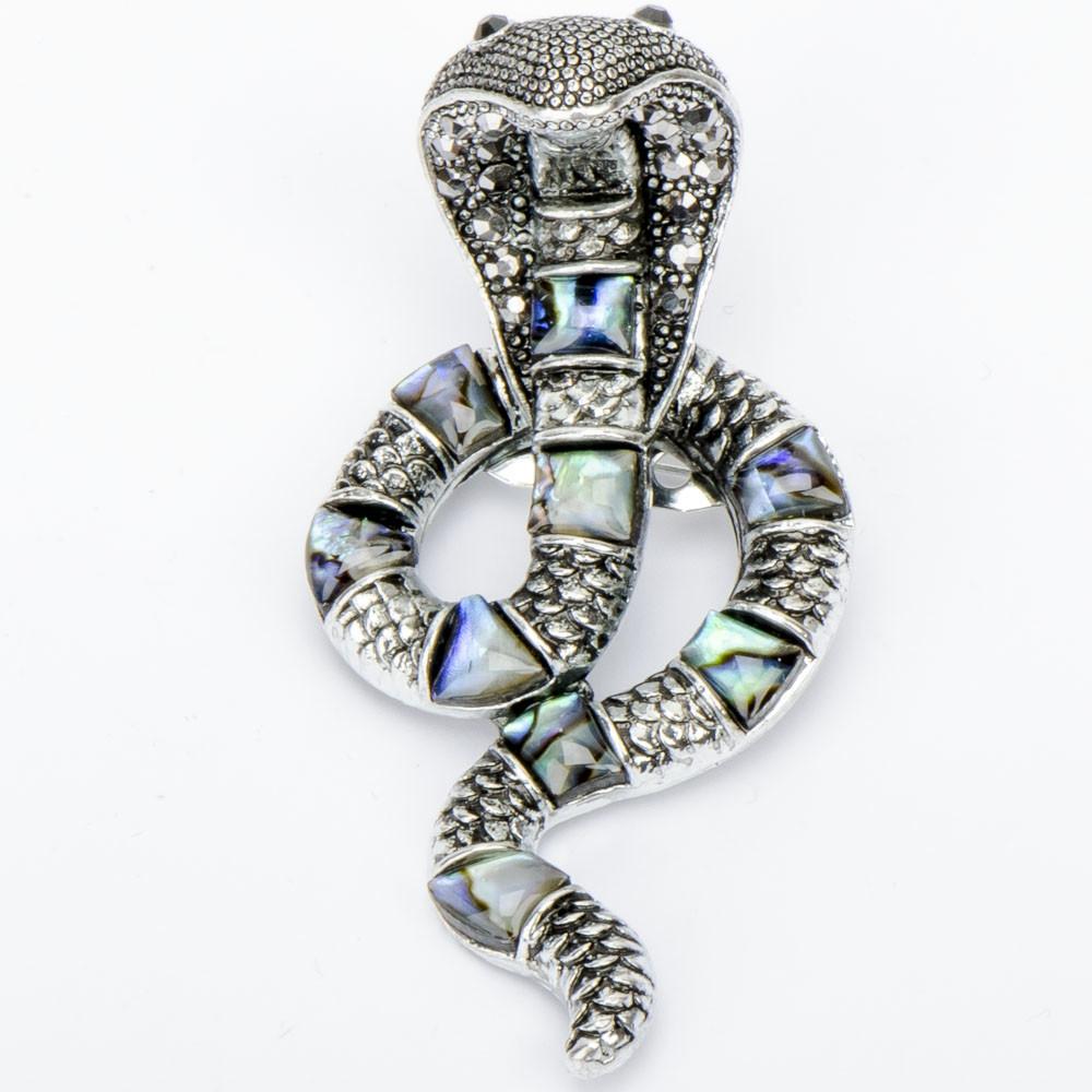 """Брошь """"Змея"""" Галиотис, Бусики-Колечки"""