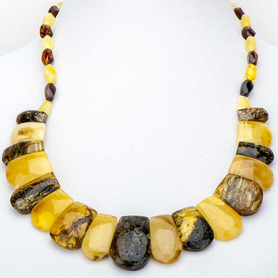 Бусы Тутанхамон янтарь, Бусики-Колечки