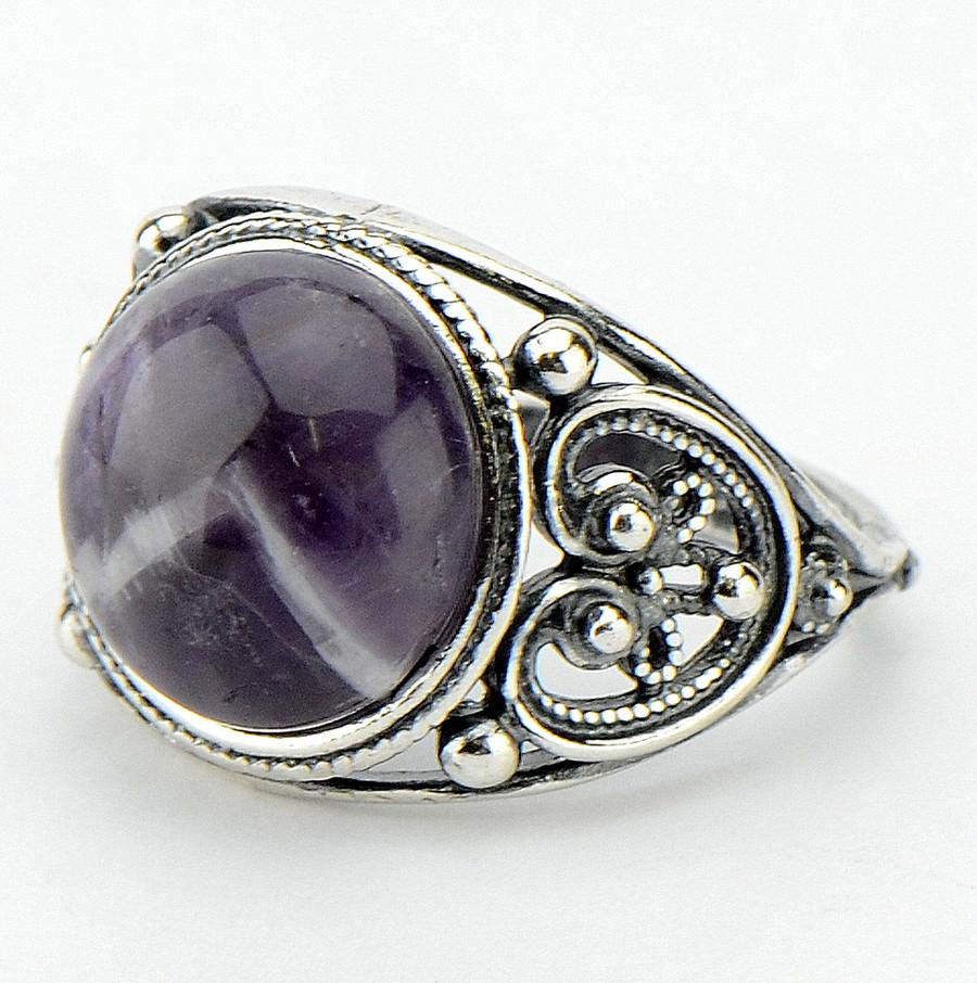 Кольцо Анжелика аметист, Бусики-Колечки