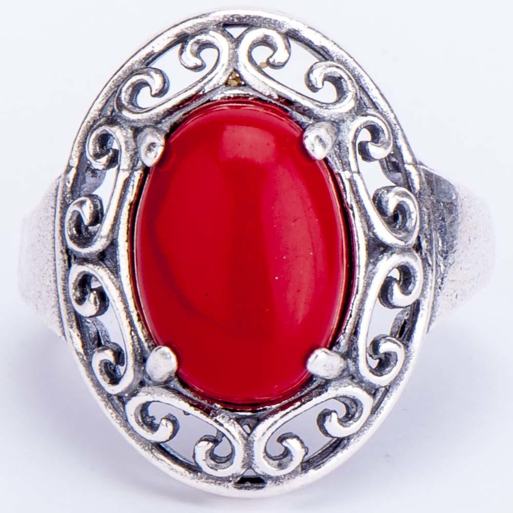 Кольцо «шедевр» им. коралл