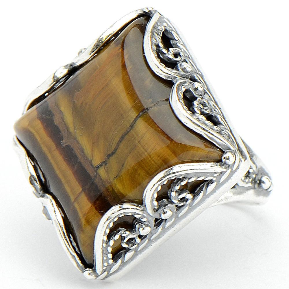 Кольцо твигги тигровый глаз кольца колечки кольцо аскон тигровый глаз