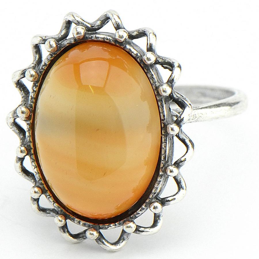 Кольцо Олимпия Сердолик,