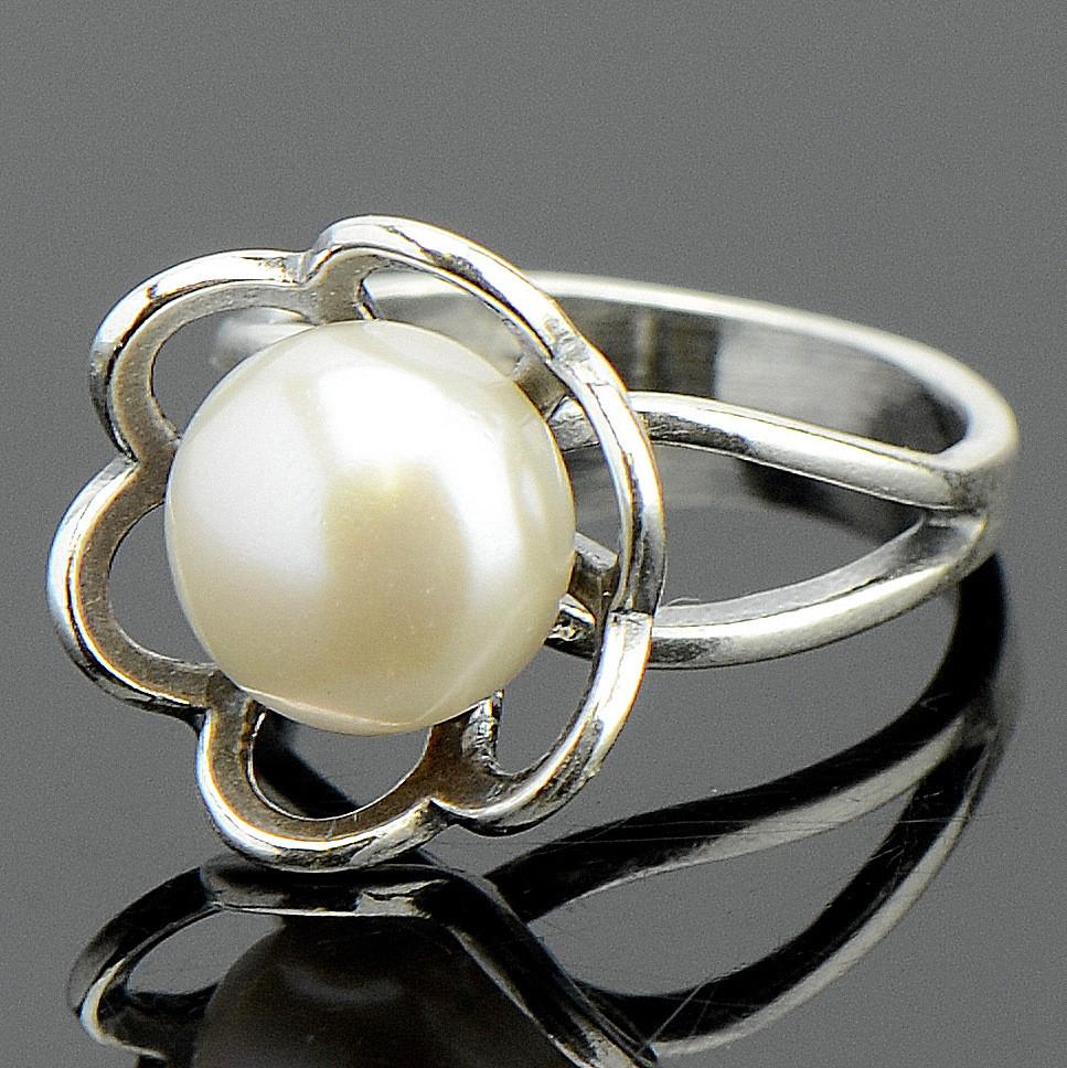 Кольцо галатея жемчуг