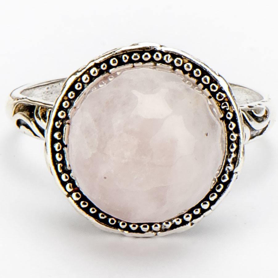 """Кольцо """"Мадина"""" розовый кварц, Бусики-Колечки"""