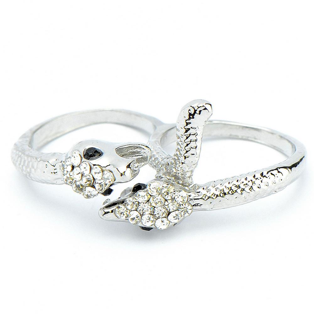 Кольцо на 2 пальца Лори биж. сплав, Бусики-Колечки