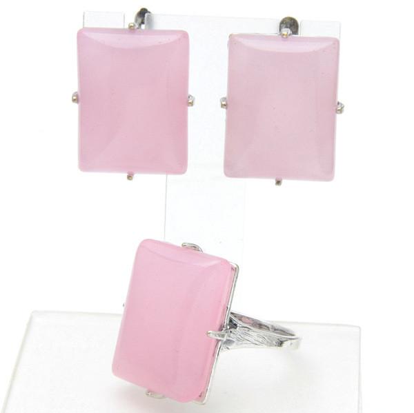 Комплект Маранта розовый кварц,