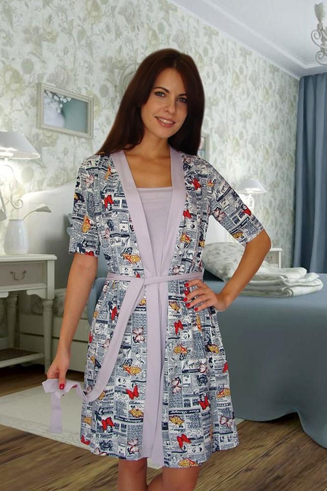 Комплект халат+сорочка, Mix-Mode