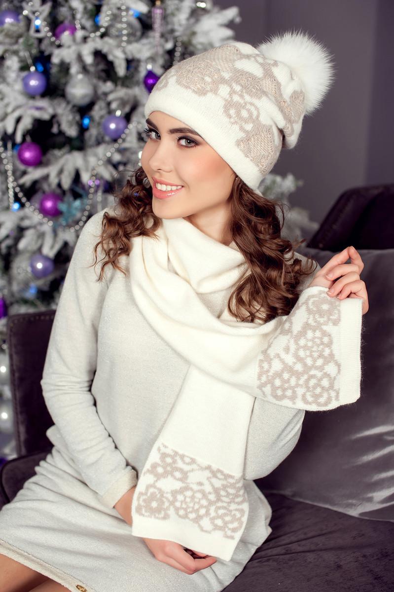 Комплект Бриджит-Люкс (шапка+шарф), Landre