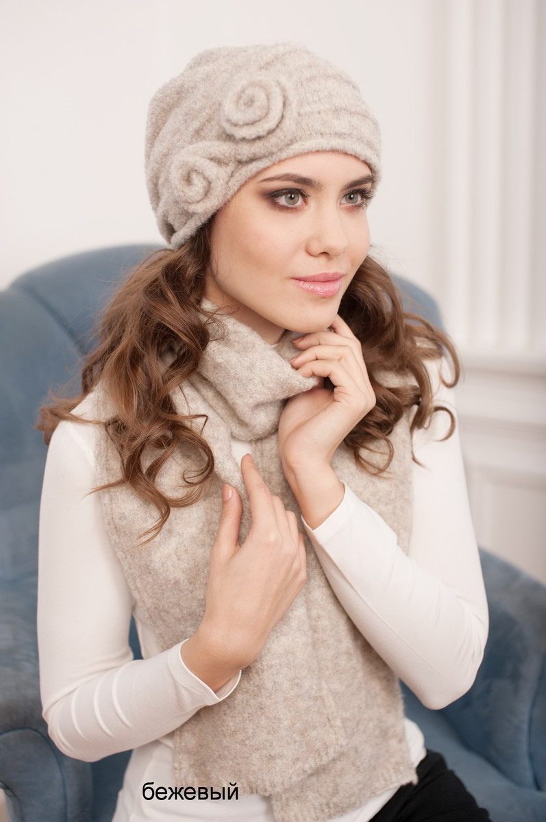 Комплект Тамара (шапка+шарф), Landre