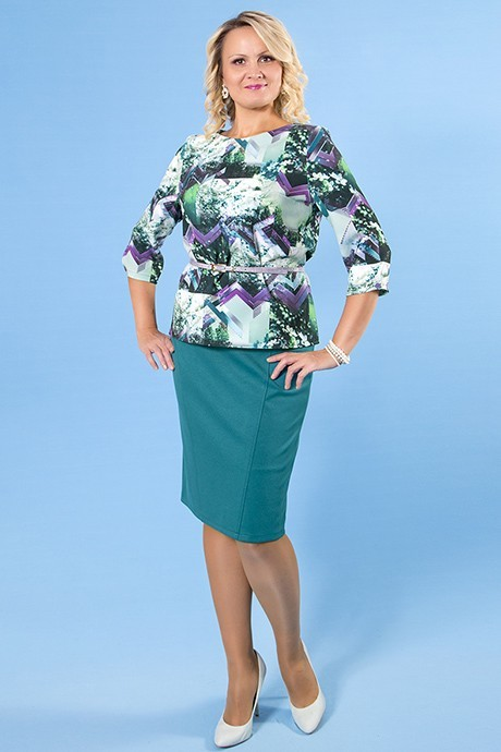 Комплект (блузка + юбка), Virgi Style