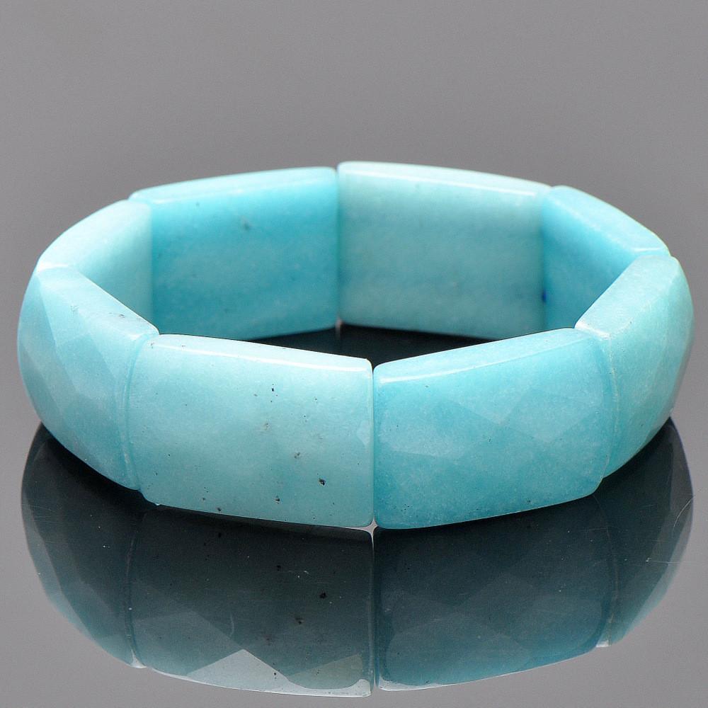 Браслет энигма имитация аквамарина бусики колечки комплект объятие кварц тонированный арт st 611 sss