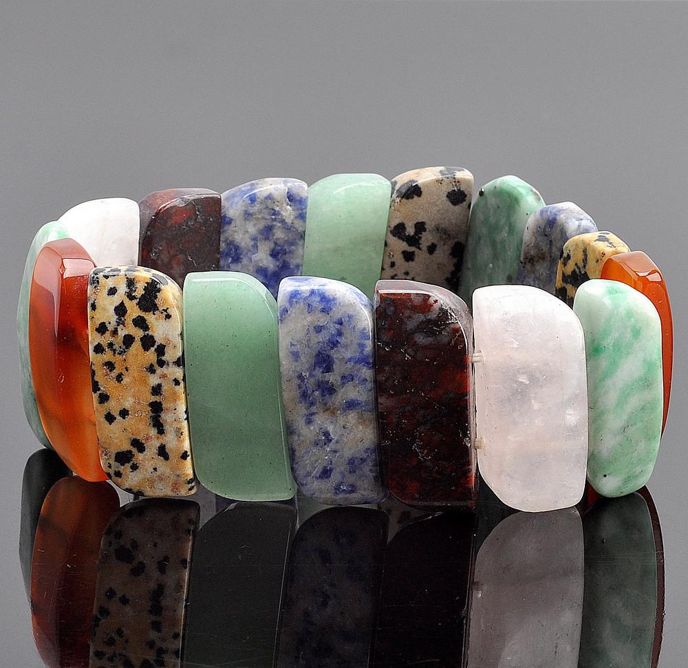 Браслет испания самоцветы бусики колечки авторский браслет радуга любви самоцветы арт авт 6273