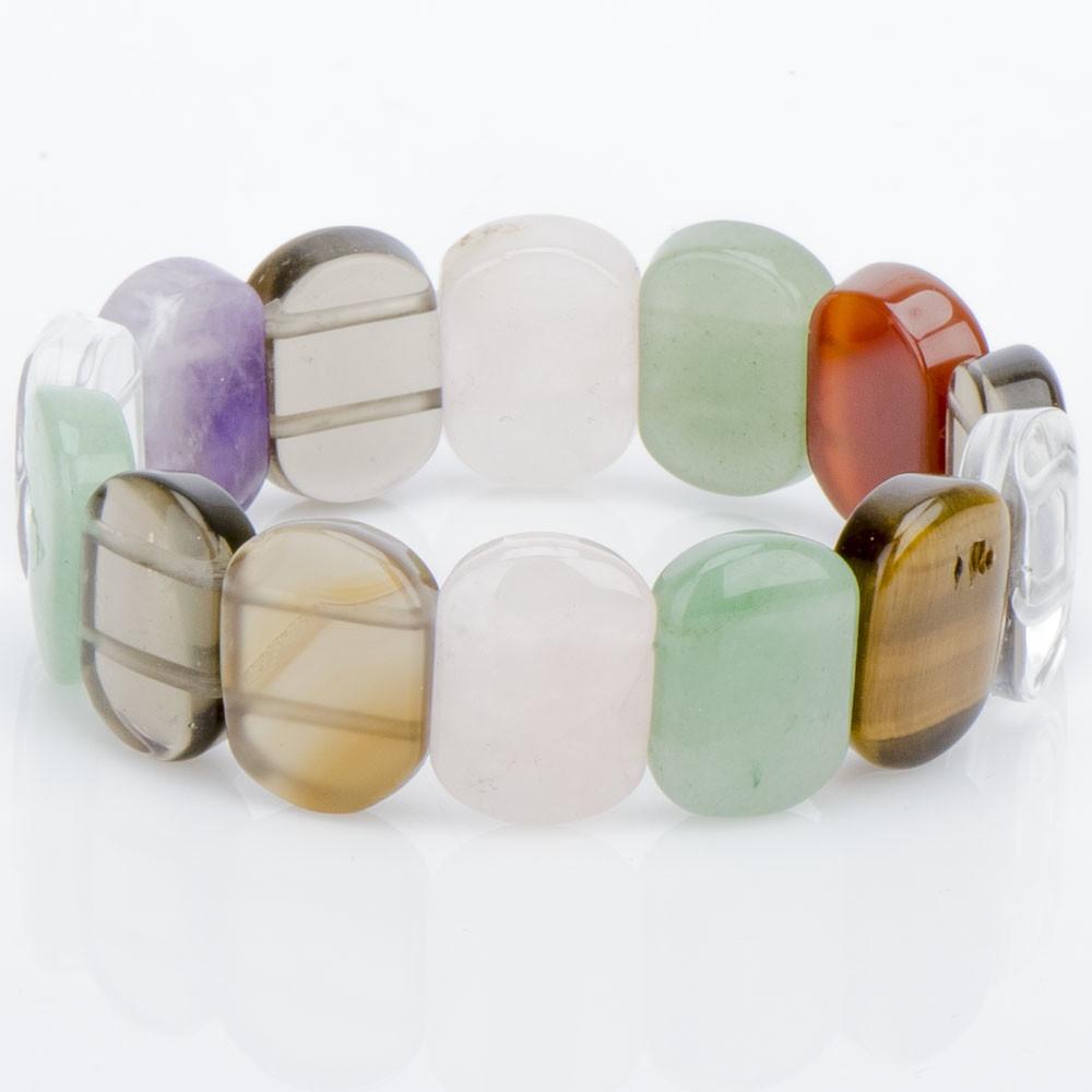 Браслет лилу самоцветы бусики колечки авторский браслет радуга любви самоцветы арт авт 6273