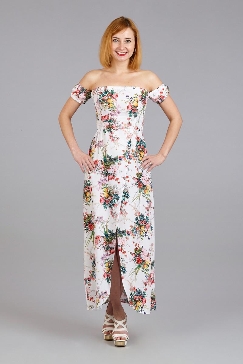 Платье пляжное платье бандо